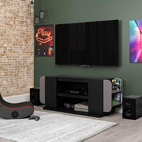 NTENSE Circuit Gaming 54 , Black TV Stand
