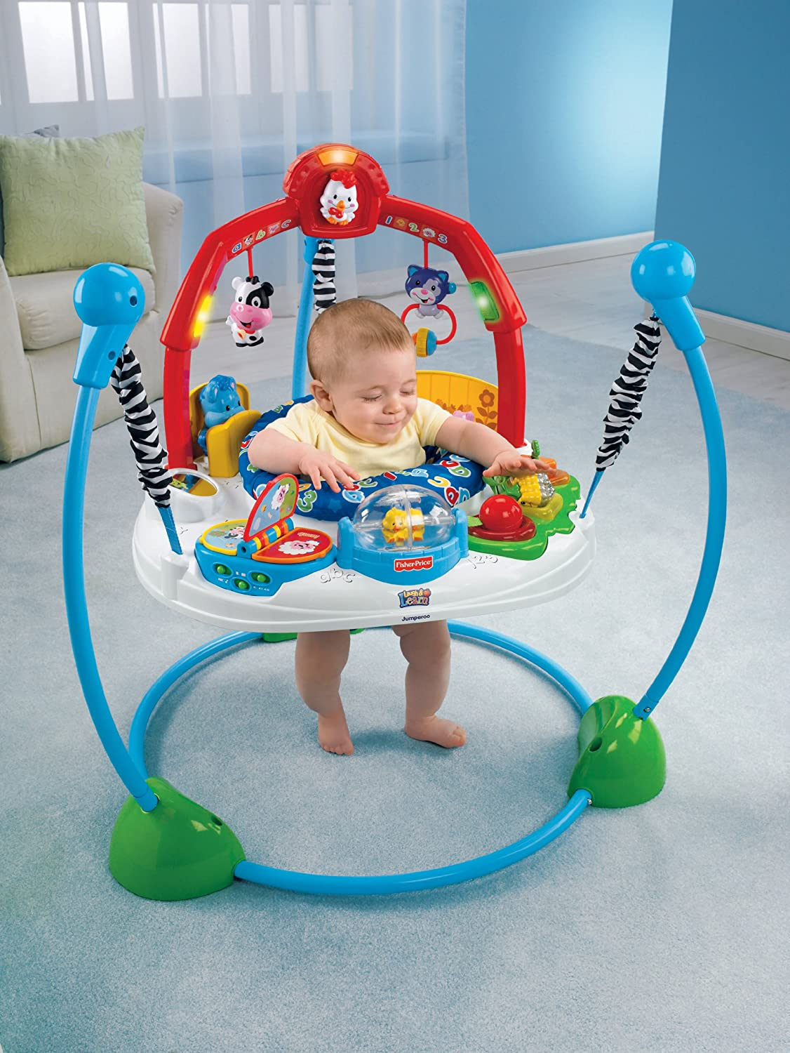 Adorable Animals Fisher Price Jumperoo - Amazon com fisher price laugh learn jumperoo early development activity centers baby
