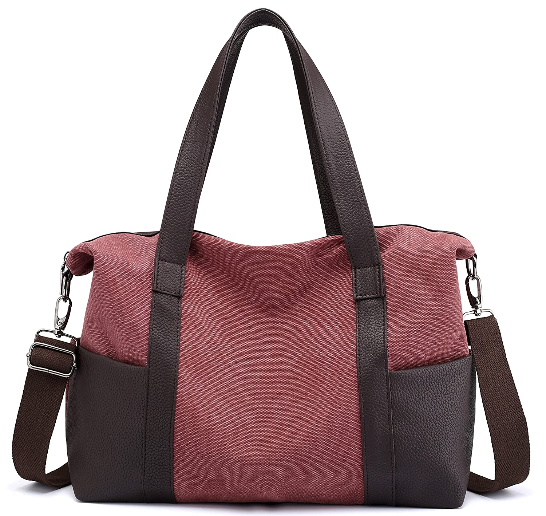 316c516a827 Red Women Top Handle Handbags Tote Purse Shoulder Bag Satchel Wine  nsonmm5077-Shops