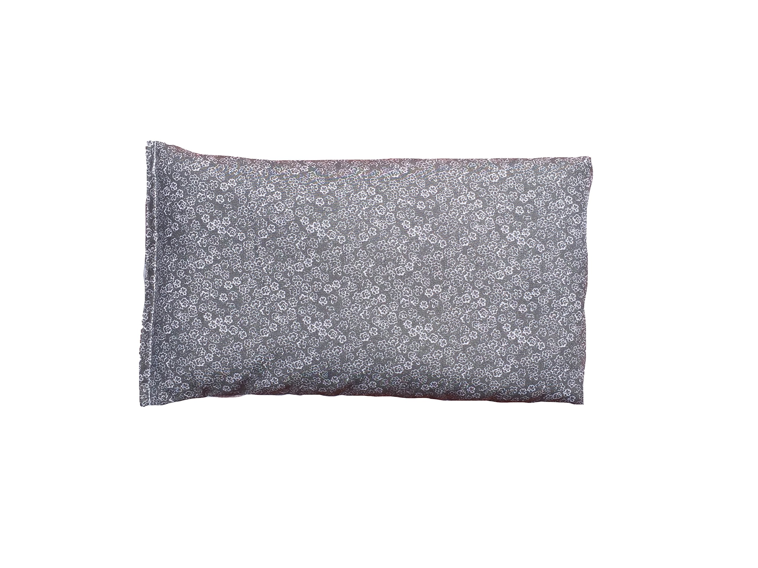 Heating Pad - Hot Therapy Relief - Organic Flaxseed - Moist Heat (Fleece/Cotton- Scribble Grey)