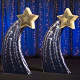 7 ft. 2 in. Navy & Gold Medium Shooting Star Standees