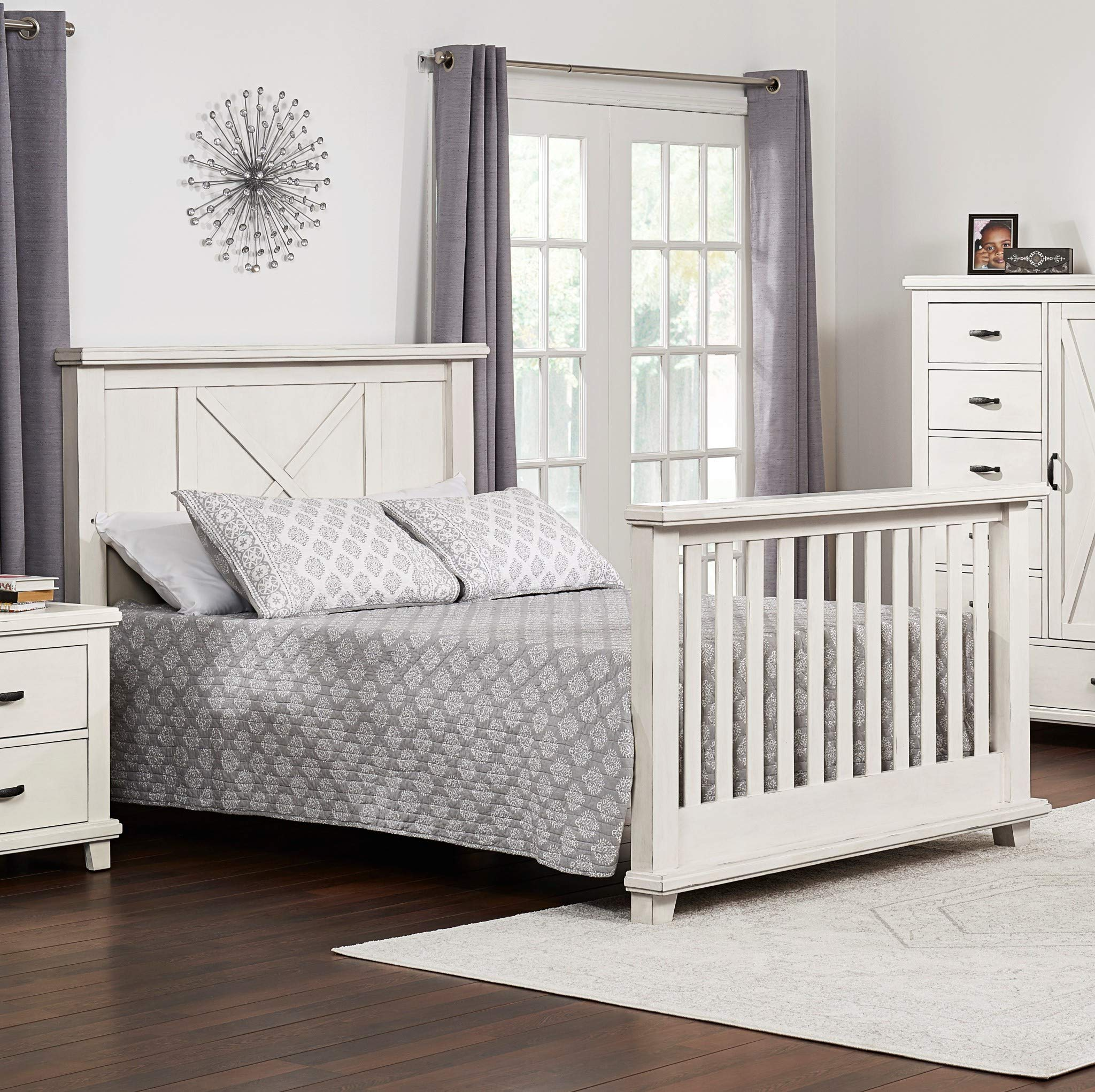 Oxford Baby Lexington Full Bed Conversion Kit, Heirloom White by Oxford Baby (Image #3)