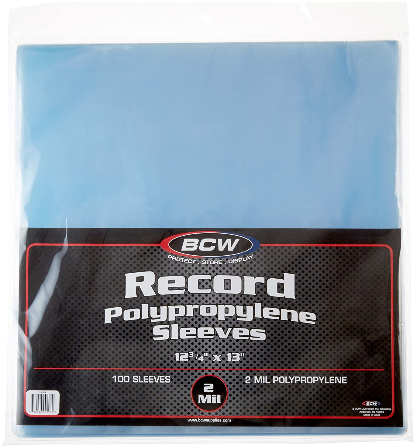 BCW Supplies 1-RSLV 33 RPM Record Sleeves (100 Count)