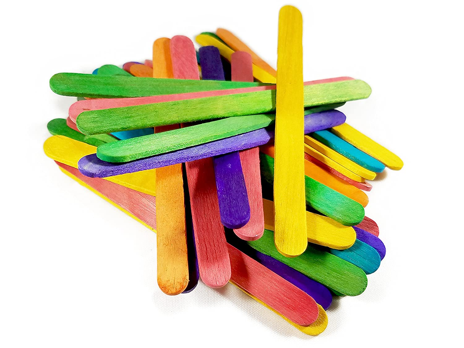 Better Crafts Wood Craft Colored Stick Perfect For Group Activities Crafts Projects And More. 500