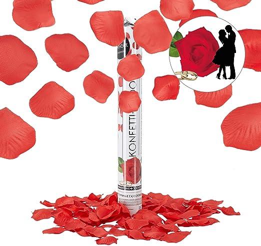 Cañon confeti petalos de rosa 30 cm para bodas cumpleaños fiestas celebraciones