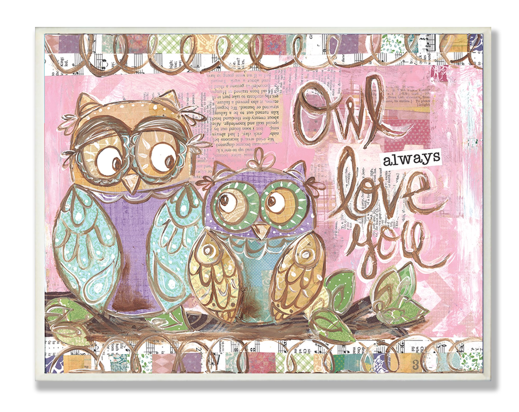 The Kids Room by Stupell Owl Always Love You Pastel Rectangle Wall Plaque by The Kids Room by Stupell