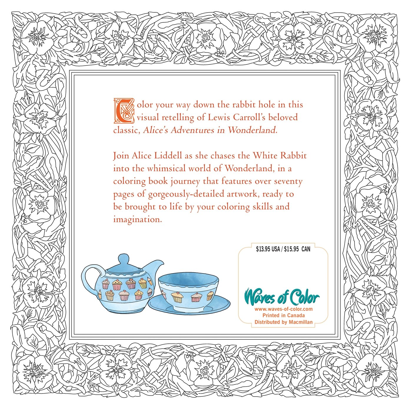 Amazon Color the Classics Alice in Wonderland A Curiouser