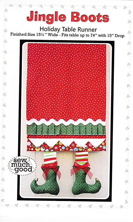 Amazon Com Jingle Boots Holiday Christmas Table Runner Pattern From