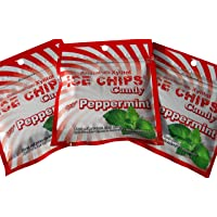 Ice Chips Xylitol Candy in Resealable Pouches (1 oz), Peppermint (3 Pack)