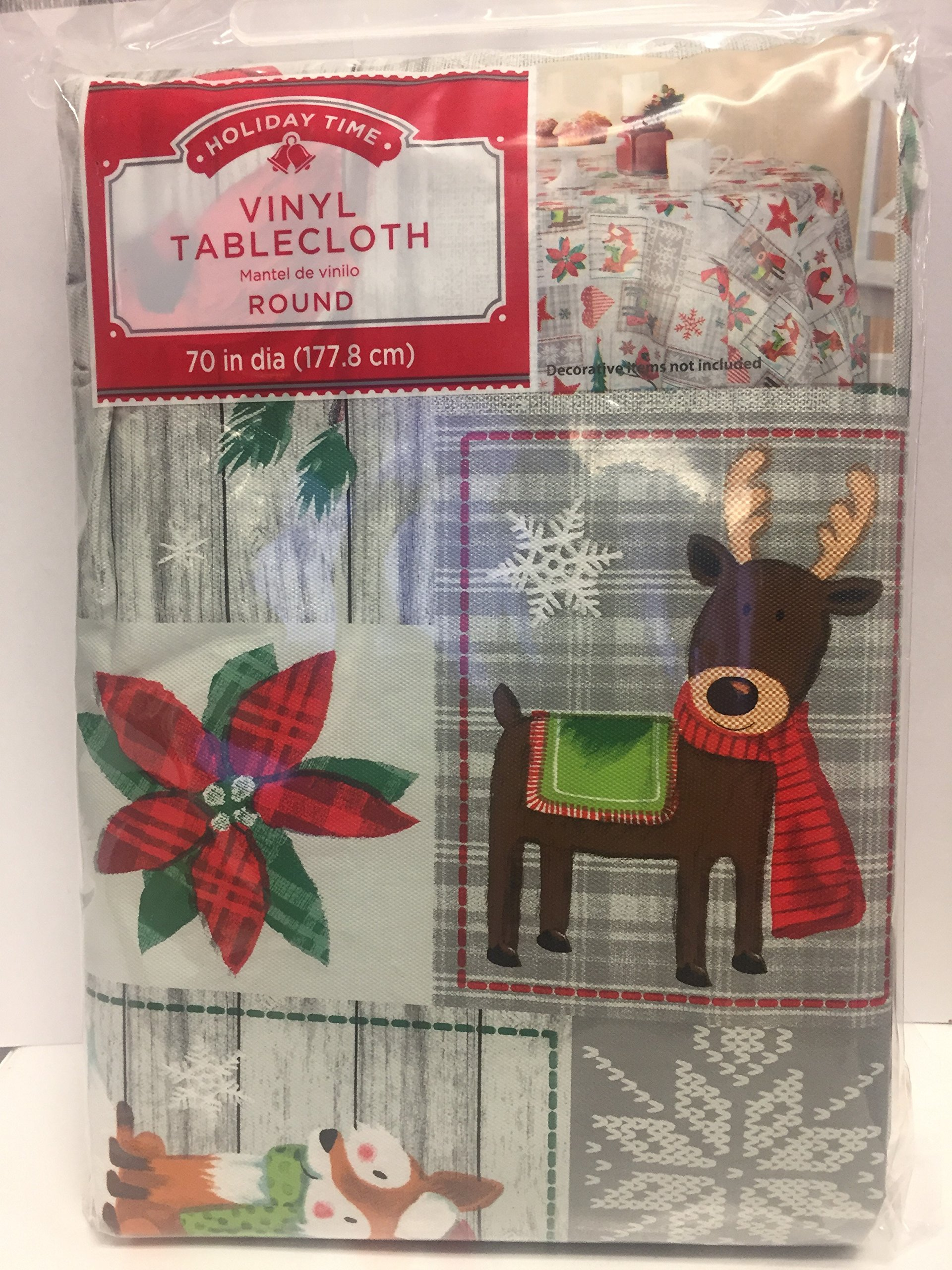 Holiday Time Vinyl tablecloth animals