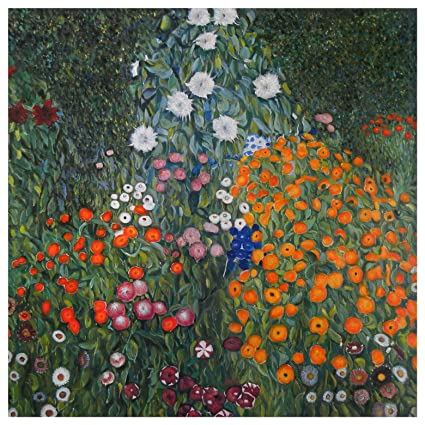 Farm Garden (Flower Garden)   Gustav Klimt Hand Painted Oil Painting  Reproduction (