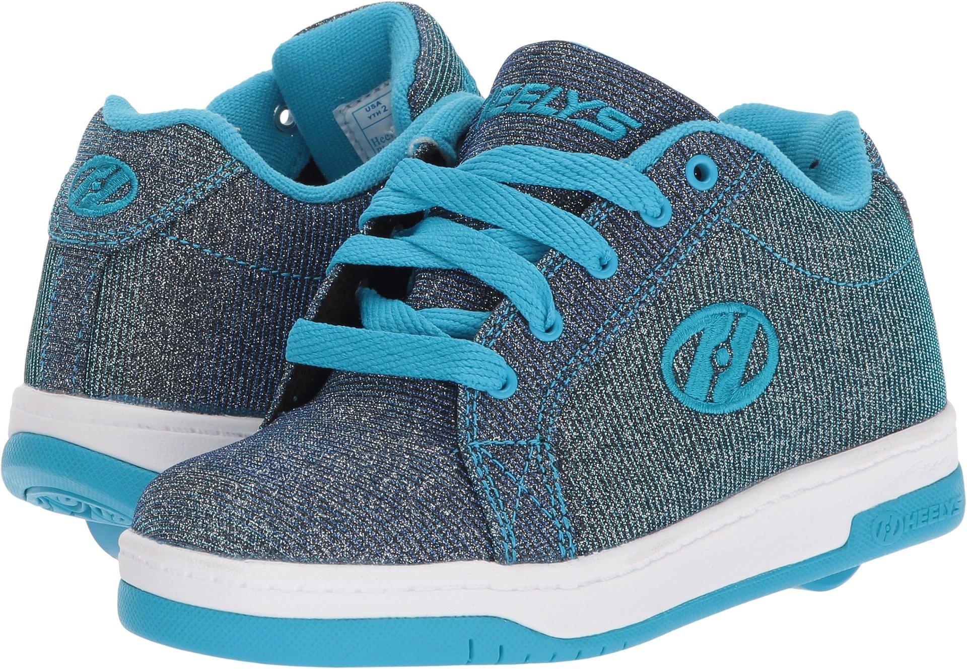 Heelys Split Sneaker, Pewter/Blue, 8 Medium US Big Kid