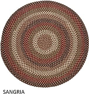 product image for Rhody Rug Jamestown Indoor/Outdoor Braided Rug Sangria 10' Round Reversible 10' Round Indoor Round