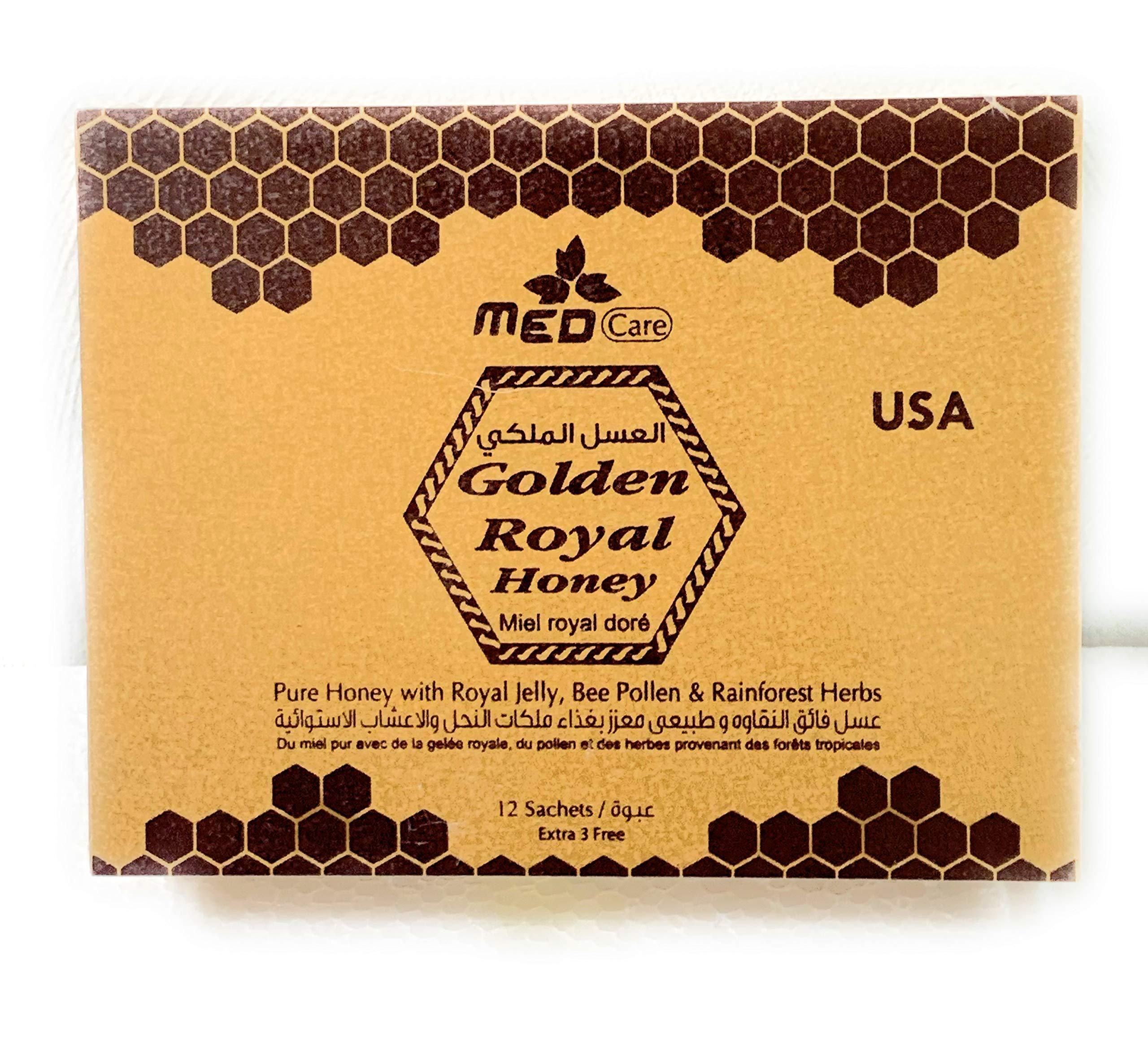 Golden Royal Honey for him 20g - 12 Satchets a Box