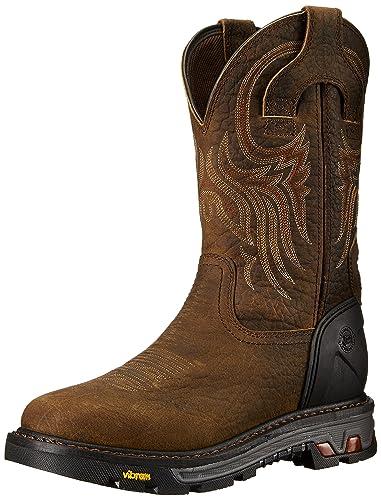 Justin Original Work Boots Men's Commander X-5 WK2106, Tumbled Mahogany  Brown Buffalo,