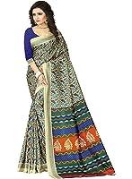 e-VASTRAM Womens Crepe Printed Art Silk Saree(V3110_Beige)