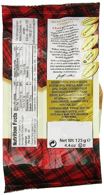 Walkers Shortbread Mini Crunchy Oatmeal, 4,4 oz: Amazon.com ...
