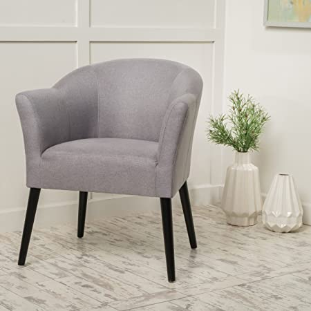 Charmaine Fabric Arm Chair in Light Grey