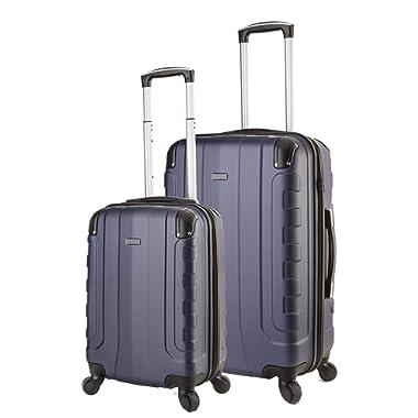 TravelCross Chicago Luggage Lightweight Spinner Set - Dark Blue, 2 Piece (20'' / 24'')