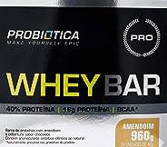 Whey Bar High Protein - 24 Unidades 40g Amendoin, Probiótica