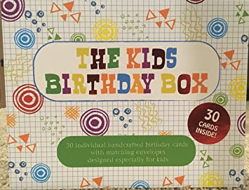 Amazon Paper Charms Kids Birthday Box 30 Count Handcrafted And Embellished Cards Office Products