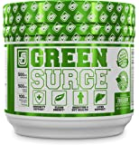 GREEN SURGE Green Superfood Powder Supplement - Premium Greens Drink w/ Spirulina, Wheat & Barley Grass, & More Organic Greens - Probiotics & Digestive Enzymes - 30 Servings, Mixed Berry