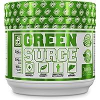 GREEN SURGE Green Superfood Powder Supplement - Greens Drink w/ Spirulina, Wheat & Barley Grass, & Organic Greens - Probiotics & Digestive Enzymes -30sv Keto Friendly