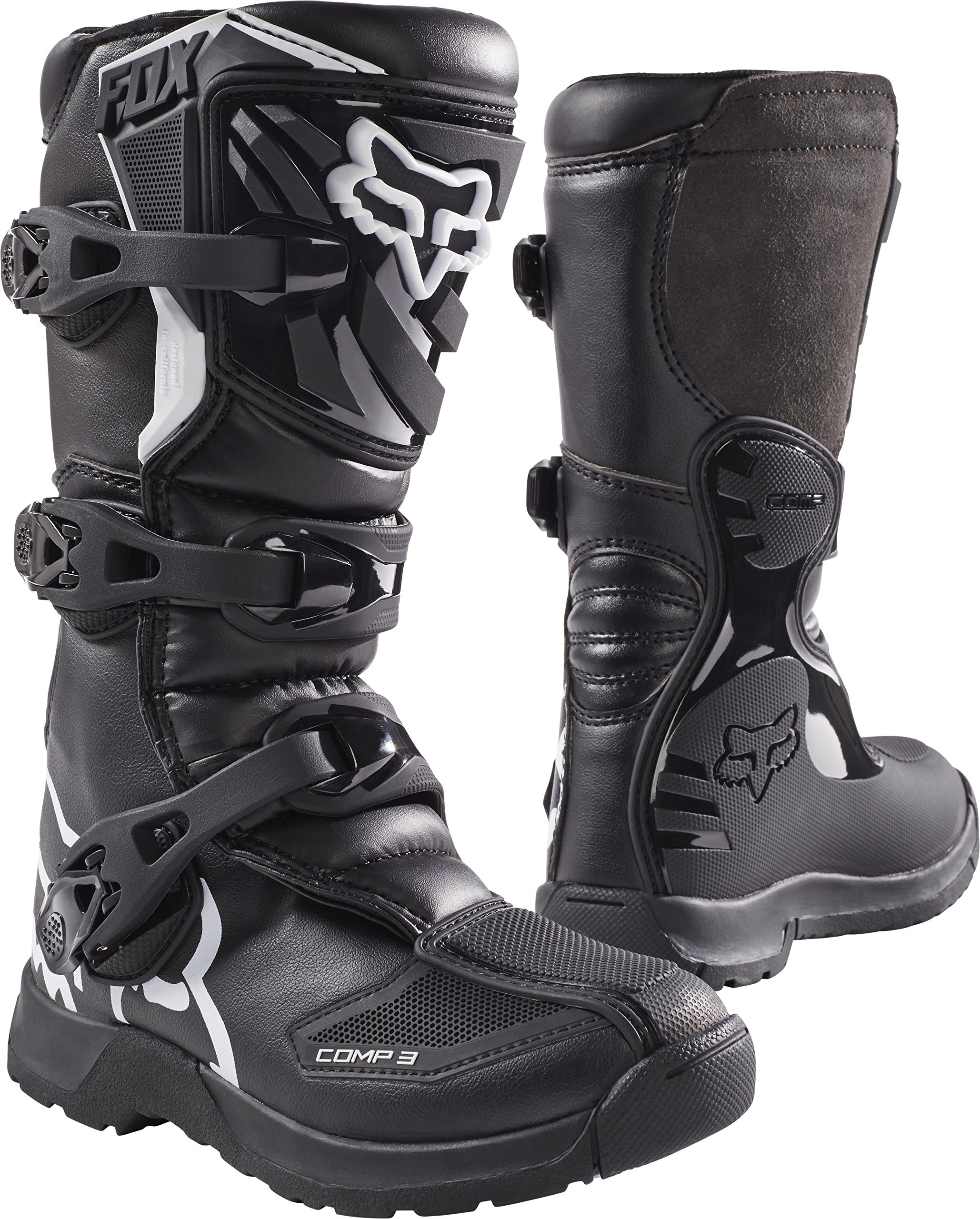 Fox Racing Comp 3 2017 Youth MX/Offroad Boots Black/White 7 USA by Fox Racing (Image #1)