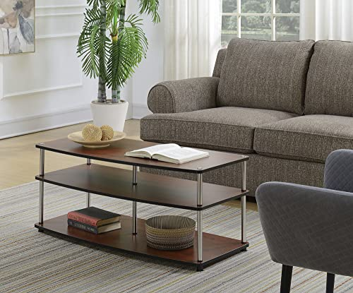 Convenience Concepts Designs2Go No Tools Coffee Table, Cherry