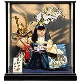 【五月人形】【ご進物ケース】8号風神雷神:兜武者 :嘉房作【武者人形】【端午の節句】