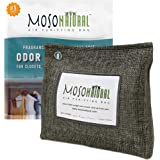 MOSO NATURAL Stand-Up Air Purifying Bag. Odor Eliminator, Odor Absorber for Closet and Bathroom. Charcoal Color 300g