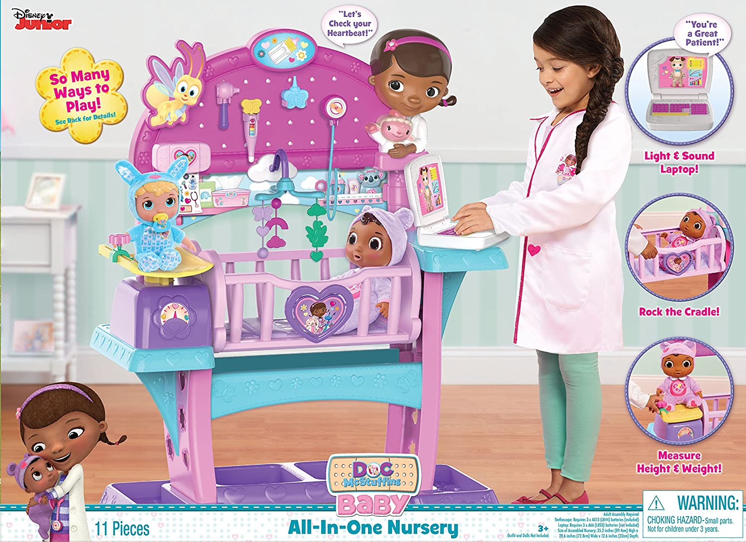 Disney Doc McStuffins All in One Baby Nursery Set Flat River Group us toys FLAHC 92245
