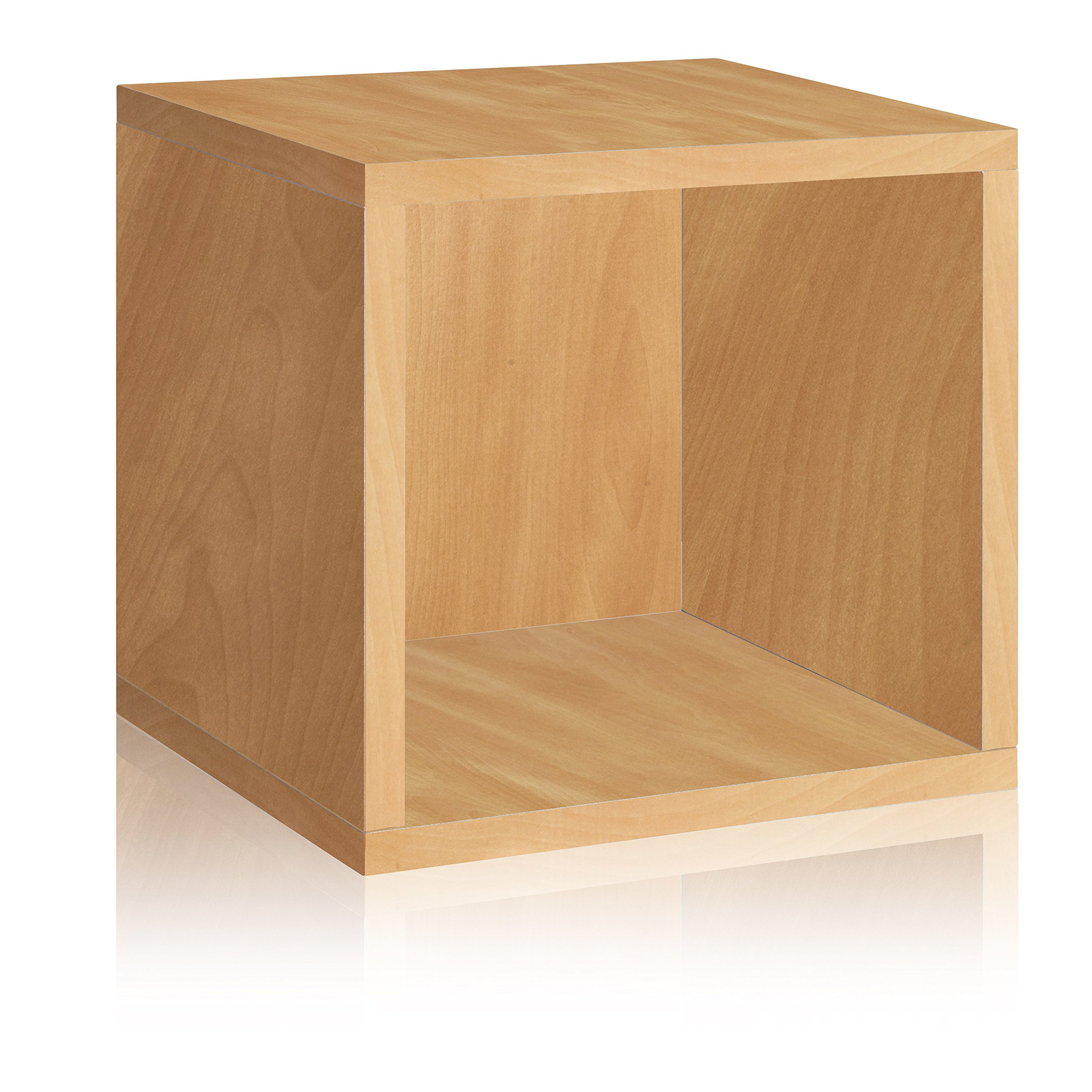 Way Basics Eco Stackable Storage Cube and Cubby Organizer, Natural (made from sustainable non-toxic zBoard paperboard)