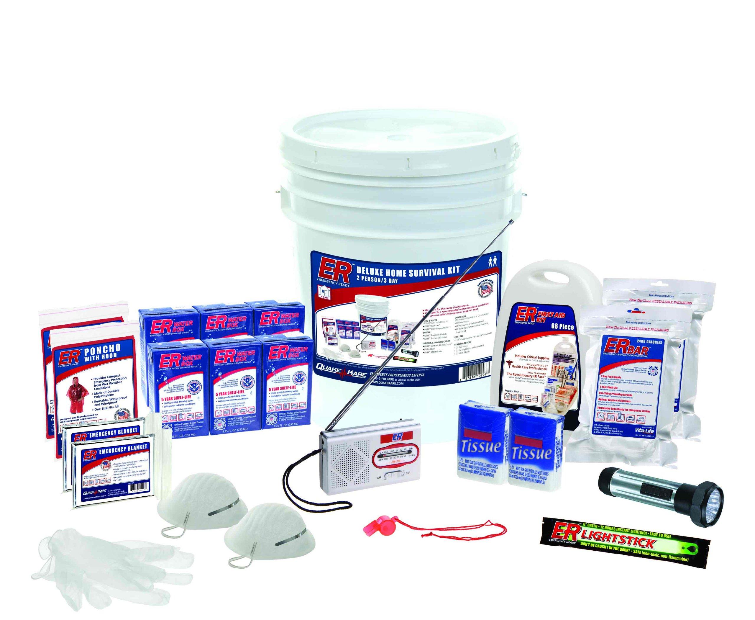 ER Emergency Ready SKH2SR 2 Person Standard Survival Kit by ER Emergency Ready