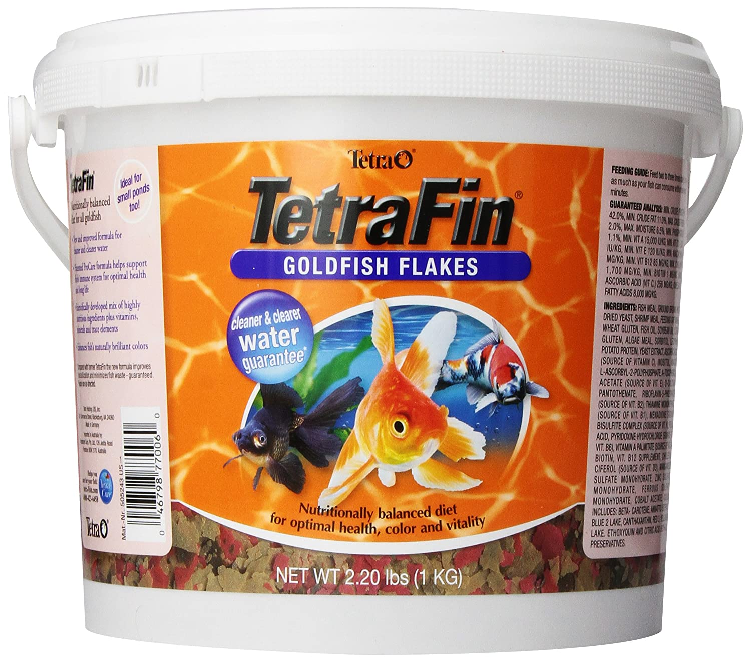 Tetra TetraFin Goldfish Flakes with ProCare, Goldfish Food ...