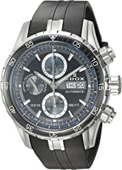 Edox Mens Grand Ocean Swiss Automatic Stainless Steel and Rubber Diving Watch, Color