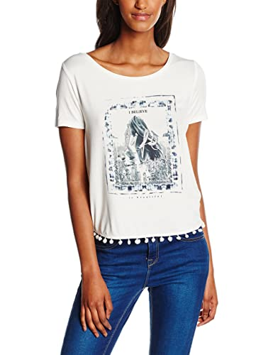 Only Onlasta S/S Tassel Top Box Ess, T-Shirt Donna