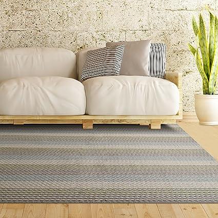 ICustomRug Multi Colored Loop Pile Berber Carpet Non Skid Utility Rug 6ft0in X 8ft0in 6