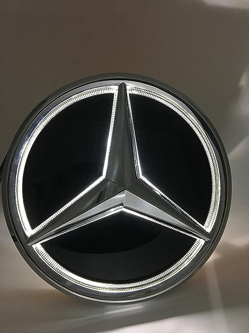 Cszlove Car Front Grilled Star Emblem LED Illuminated Logo for Mercedes on