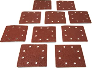 WEN 6304SP40 1/4-Sheet Sander 40-Grit Hook-and-Loop Sandpaper (10-Pack)