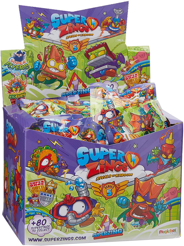 Full Box 50 packets SuperZings Rivals of Kaboom Series 5 Individual SuperZings