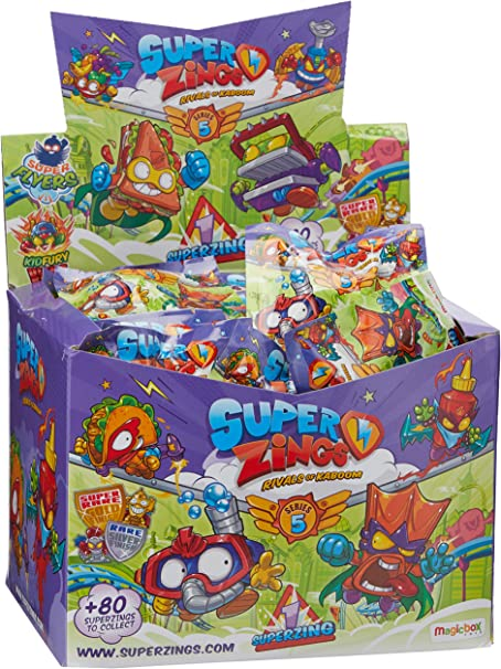 Superzings - Serie 5 - Display de 50 figuras coleccionables SuperZings , color/modelo surtido: Amazon.es: Juguetes y juegos