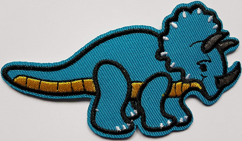 5,1x9,5cm Tyrannosaure Cartoon Dinosaure Jurassique Patch B/éb/é Enfant Animal L/ézard /Écusson Tissus Thermocollant Cameleon-Shop