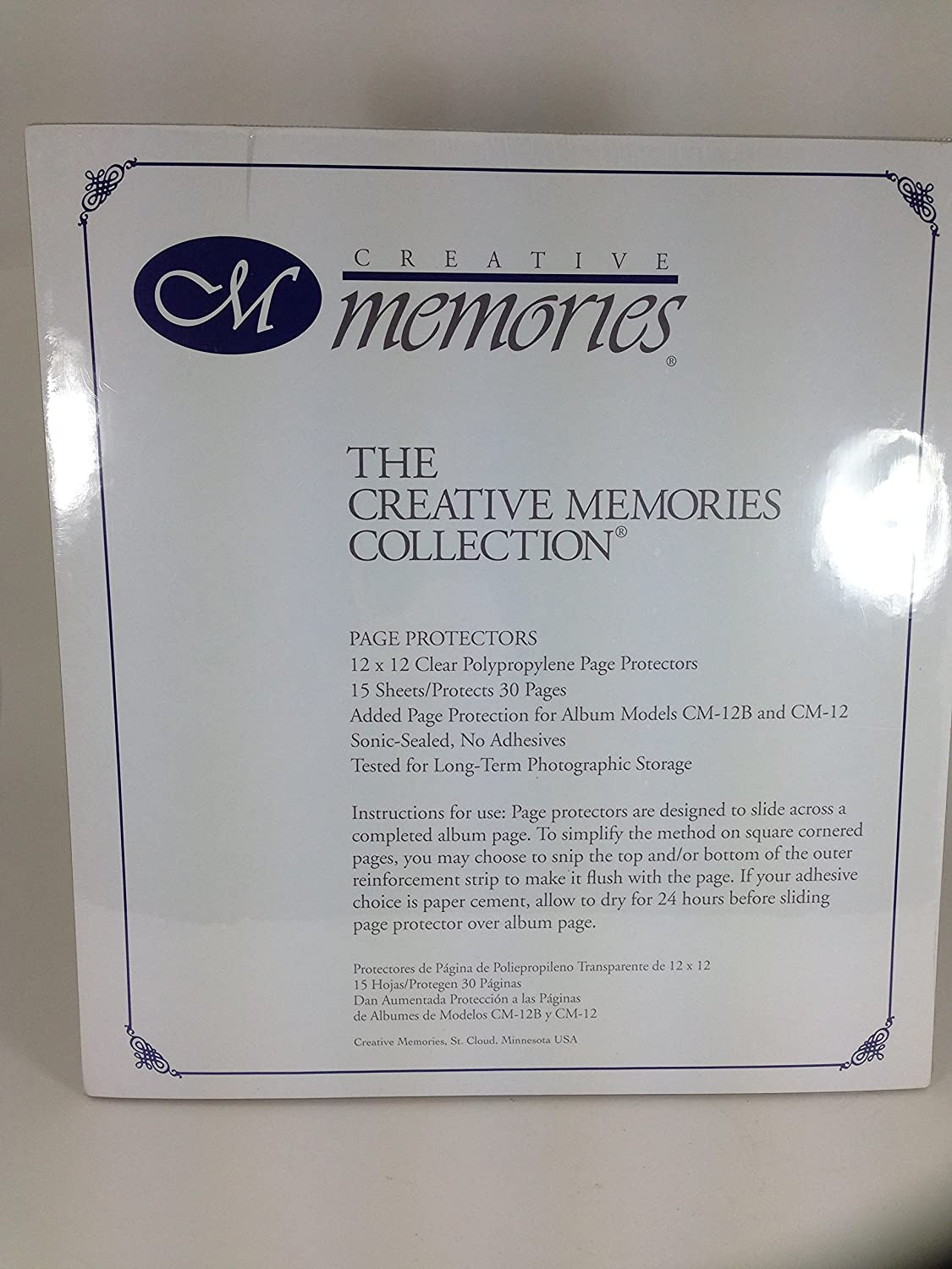 Creative Creative Creative Memories Page Protectors for Retired 12x12 Scrapbook Pages by The Creative Memories Collection f1cffb