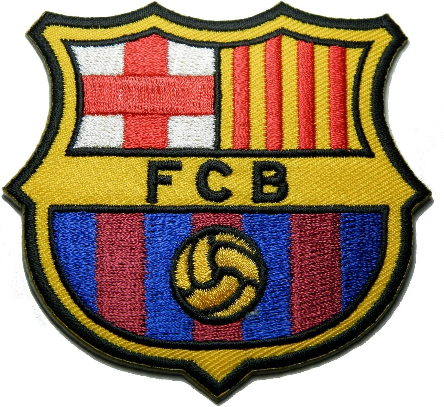 amazon com 1 x fc barcelona futbol football soccer iron on embroidered patch emblem logo badge applique by luk99 arts crafts sewing 1 x fc barcelona futbol football soccer iron on embroidered patch emblem logo badge applique by luk99
