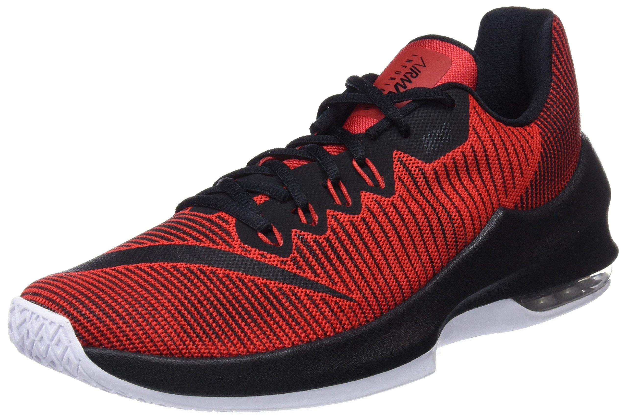 Nike Mens AIR MAX Infuriate 2 Low University REDBlack White Size 8
