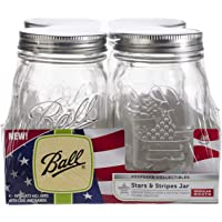 4-Pack Ball Keepsake USA Stars & Stripes Regular Mouth Canning Jars