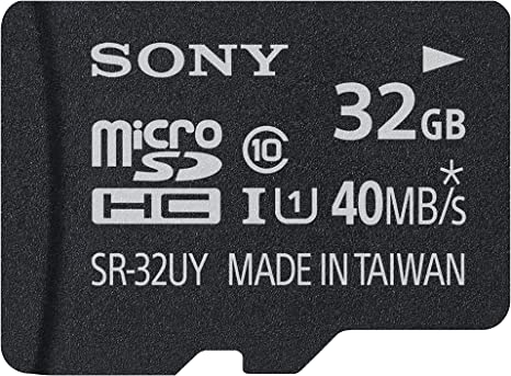 Sony 32GB Class 10 Micro SDHC R40 Memory Card (SR32UYA/TQMN) (OLD MODEL)