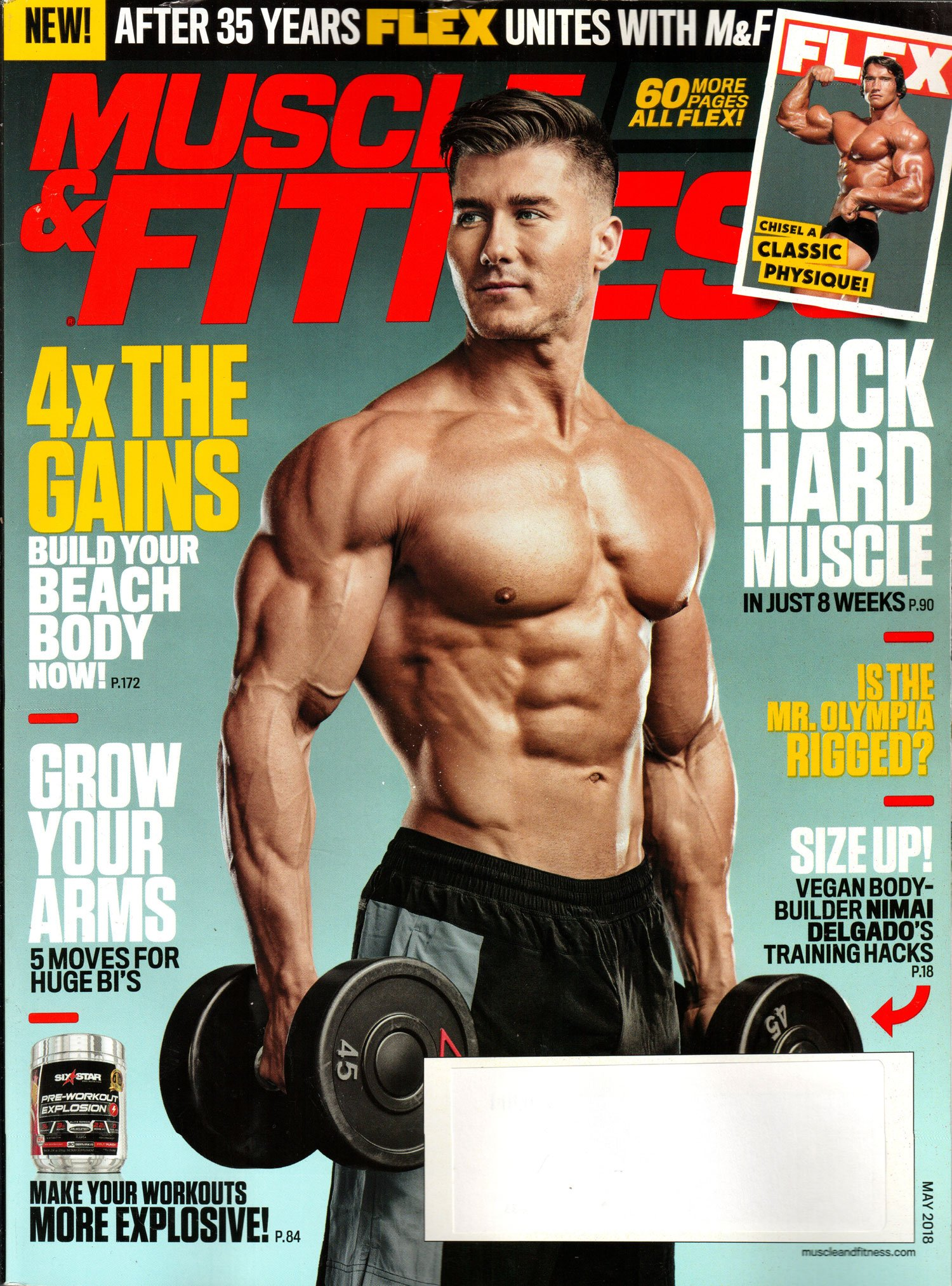 a0ba768a034 Muscle   Fitness Magazine May 2018