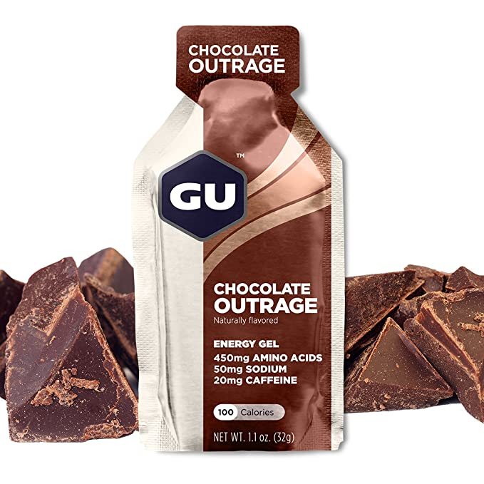 GU Energy Gel Energizante de Chocolate - Paquete de 24 x 32 gr - Total: